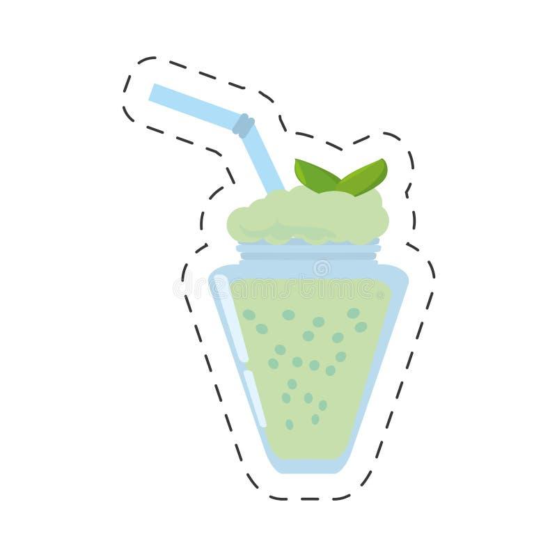 smoothie de besnoeiingslijn van de munt verse drank stock illustratie