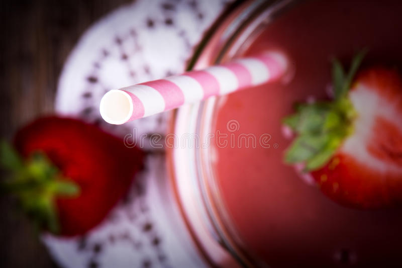 Smoothie de fraise photo stock