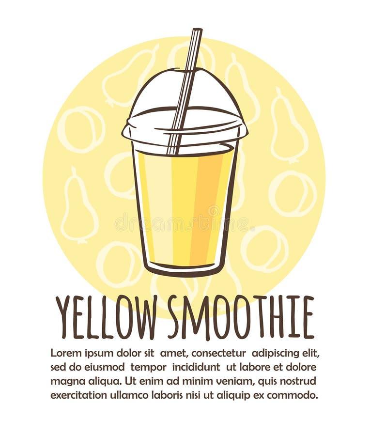 Smoothie de jaune d'illustration de vecteur illustration de vecteur