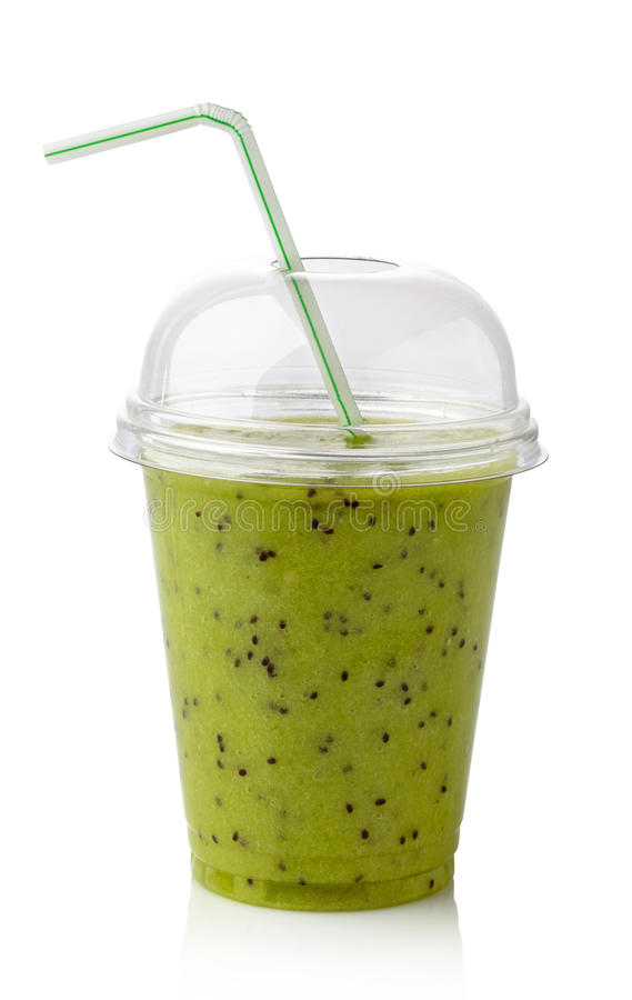Smoothie de kiwi photographie stock