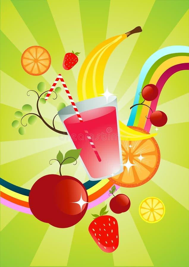 Smoothie de la fruta fresca stock de ilustración
