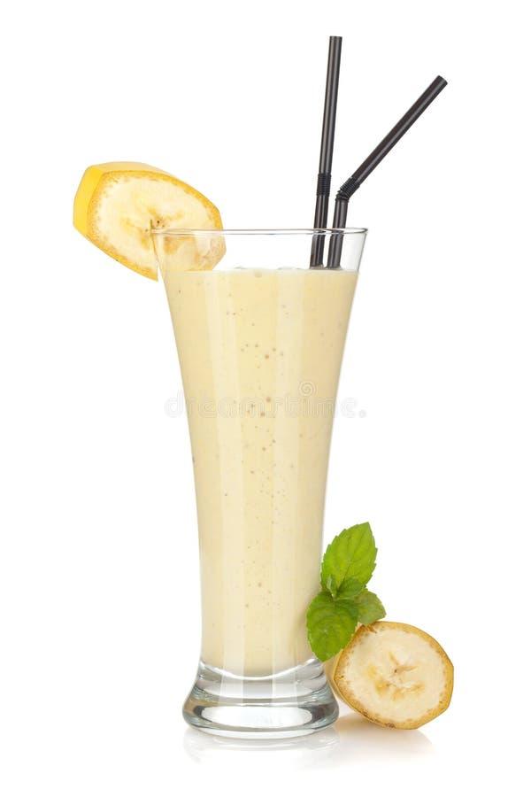 Smoothie de la leche del plátano fotografía de archivo libre de regalías
