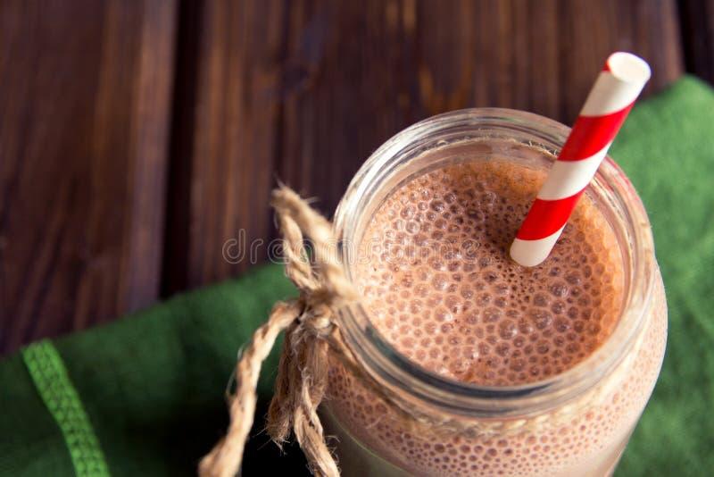 Smoothie del chocolate (batido de leche) imagen de archivo libre de regalías