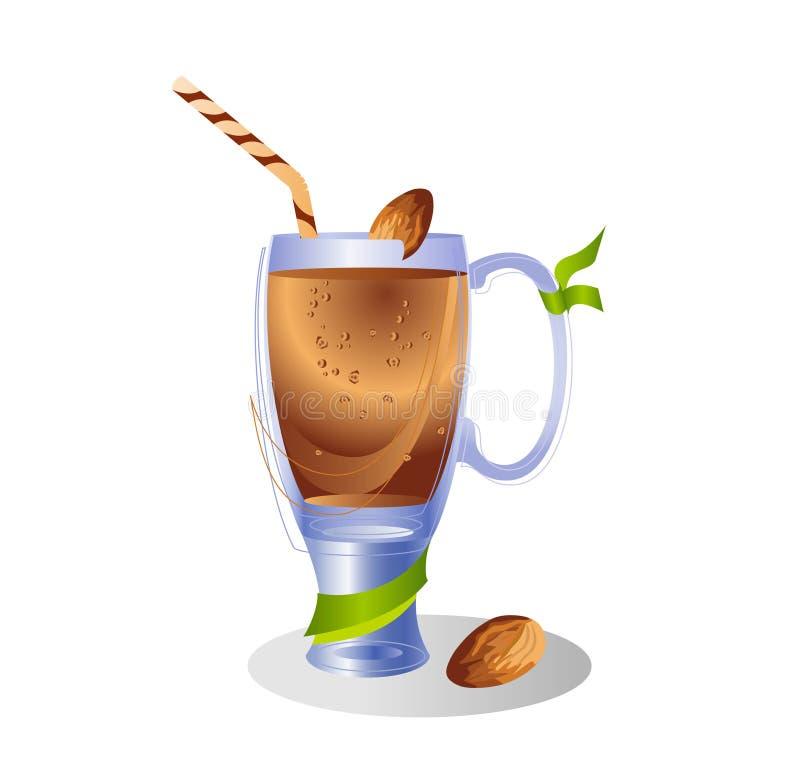 Smoothie in der Glasflasche mit Nüssen Frische organische Smoothiebestandteile Gesundheit oder Detoxdiätlebensmittelkonzept lizenzfreie abbildung