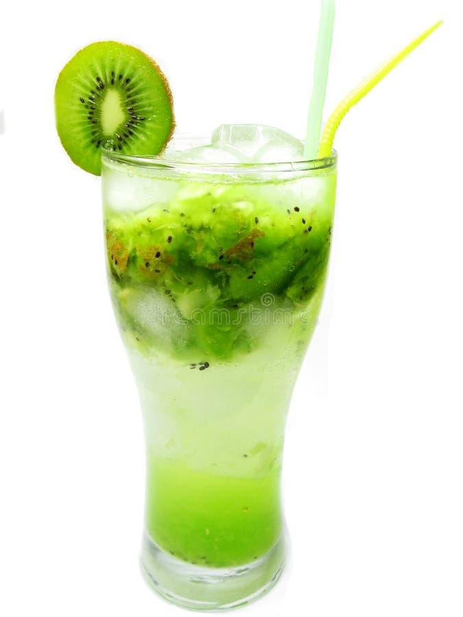 Smoothie do cocktail de fruta com quivi foto de stock royalty free
