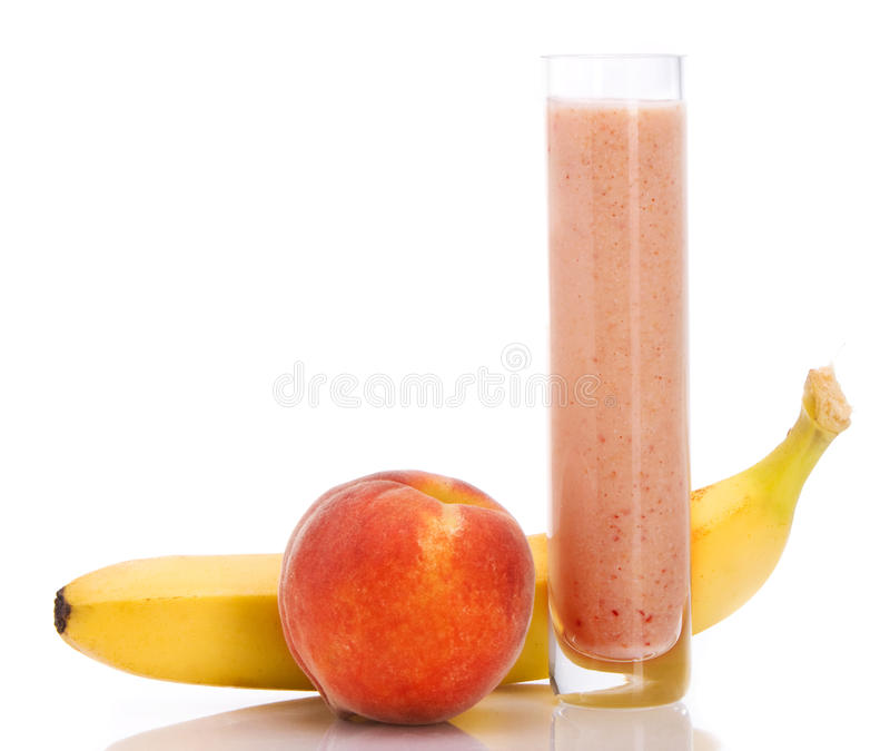 Smoothie do pêssego imagem de stock royalty free