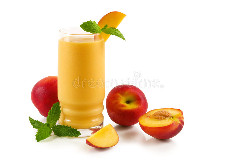 Smoothie do pêssego imagem de stock
