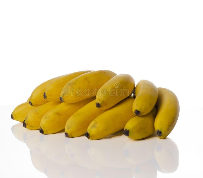 Smoothie dulce de la comida del vegano de la fruta tropical de los plátanos de la fruta tropical fotografía de archivo libre de regalías