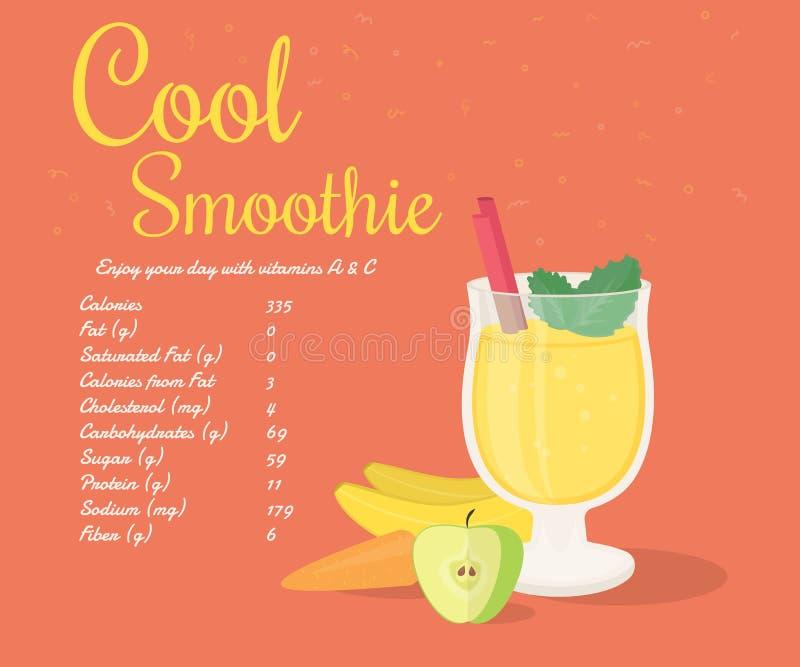 Smoothie frais jaune illustration stock
