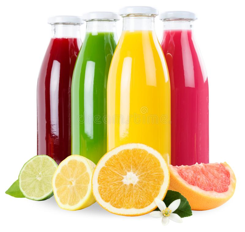 Smoothie fruit juice orange fruits smoothies in bottle square is. Olated on white royalty free stock photos
