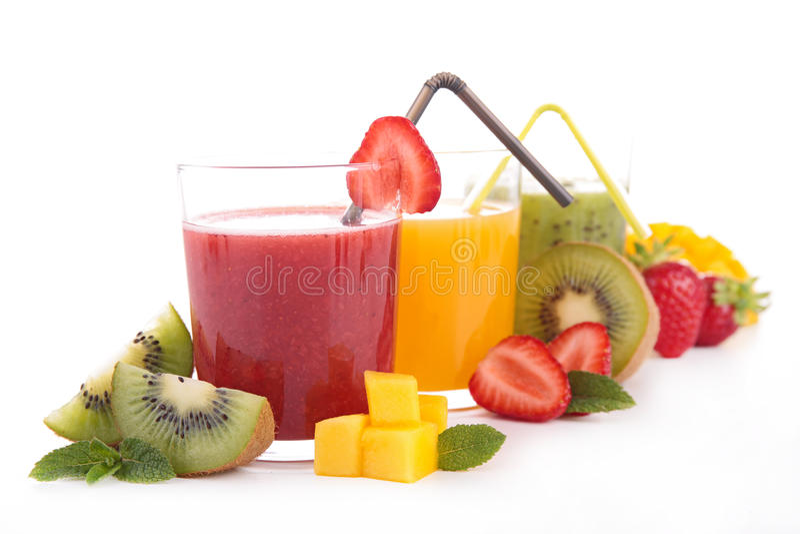 Smoothie fruktfruktsaft arkivbild