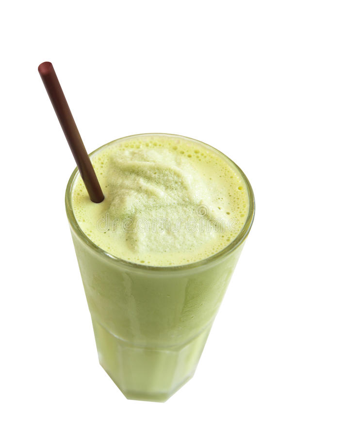 Smoothie groene thee stock foto's
