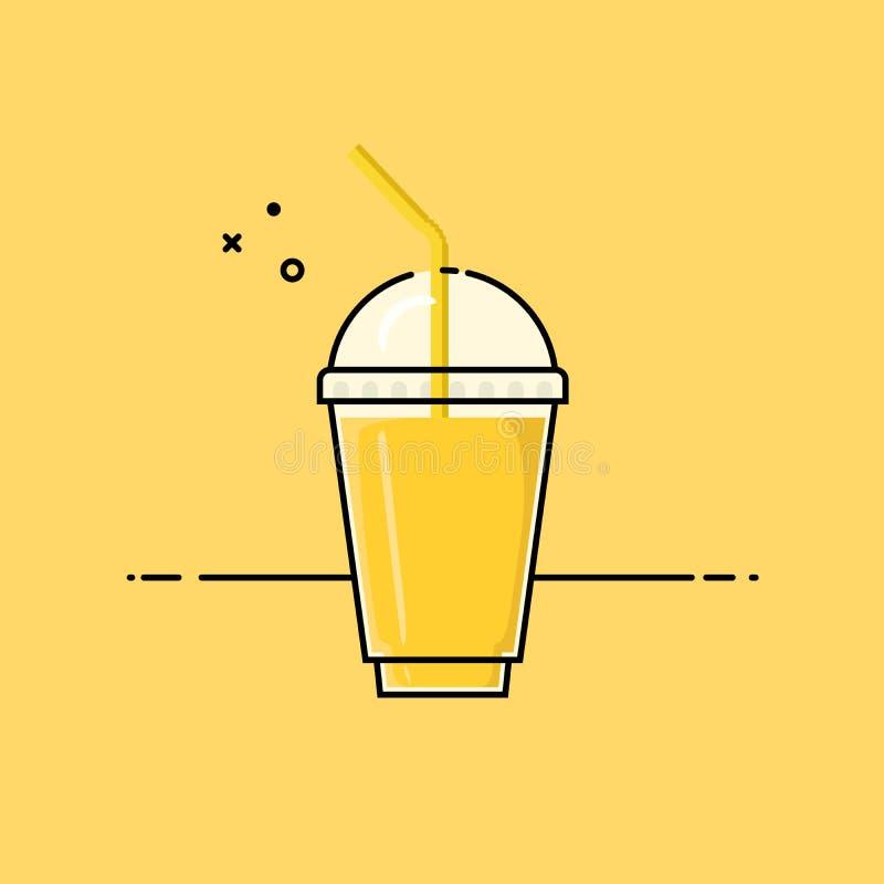 Smoothie jaune illustration stock