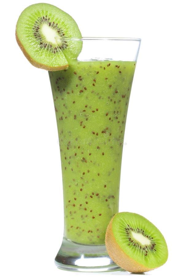 Smoothie mit Kiwi stockbild