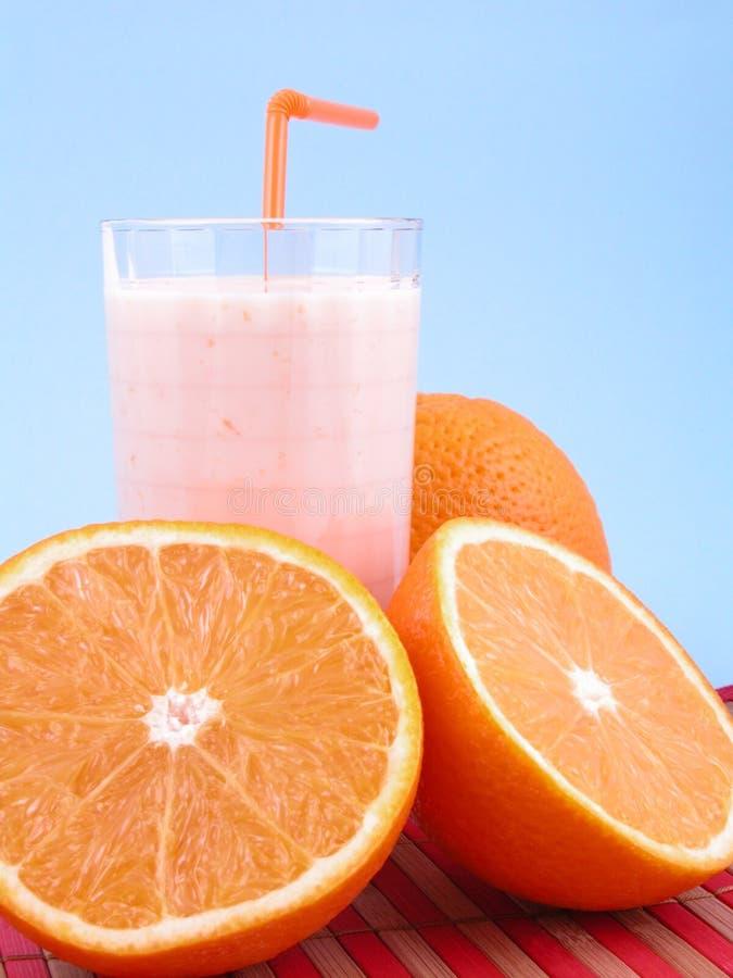 Smoothie orange photographie stock