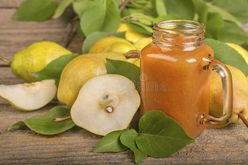 Smoothie of pears stock photo