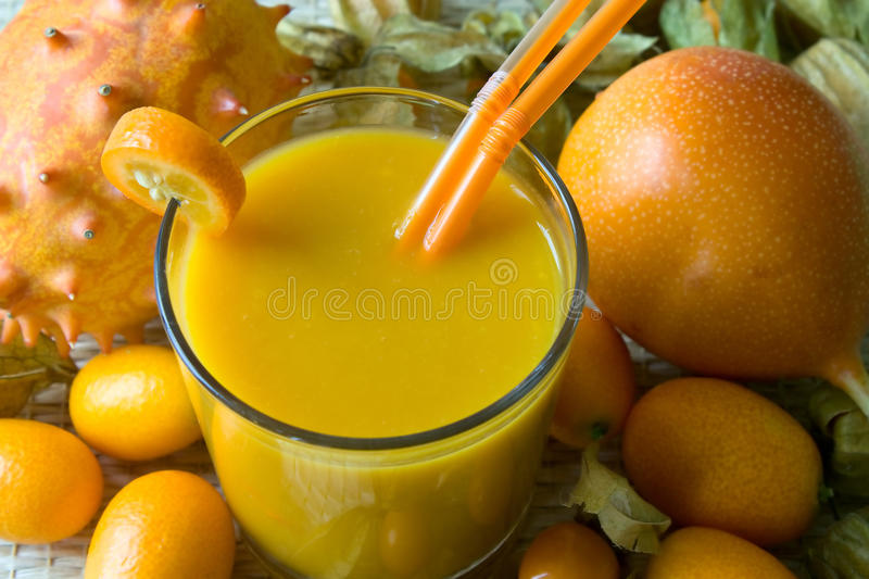Download Smoothie With Tropical Fruits Stock Photo - Image: 13269976