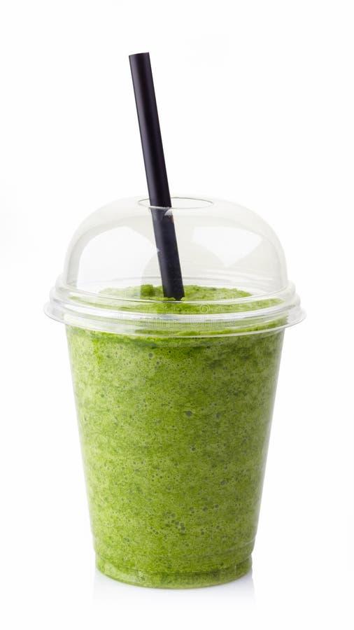 Smoothie vegetal verde fotos de archivo