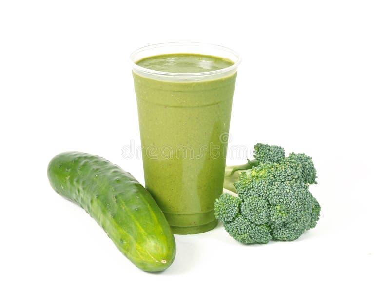 Smoothie vegetal verde sano fotografía de archivo