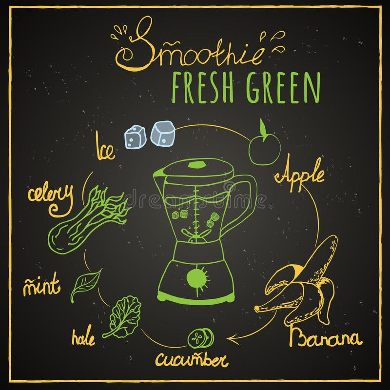 Smoothie vert illustration stock
