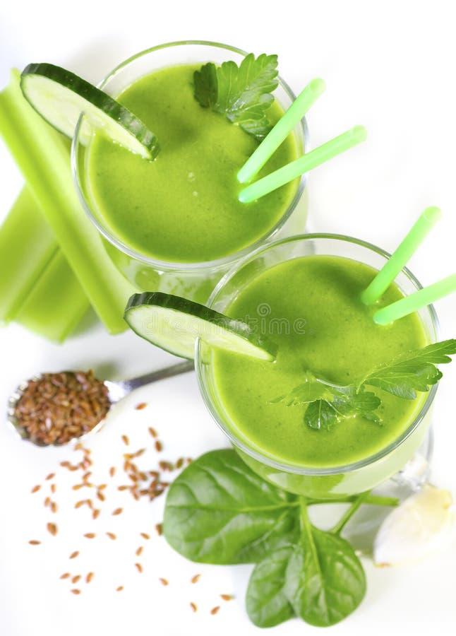 Smoothie vom grünen Gemüse lizenzfreies stockbild