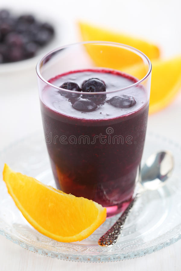 Free Smoothie With Blueberries And Cranberries Stock Image - 18403281