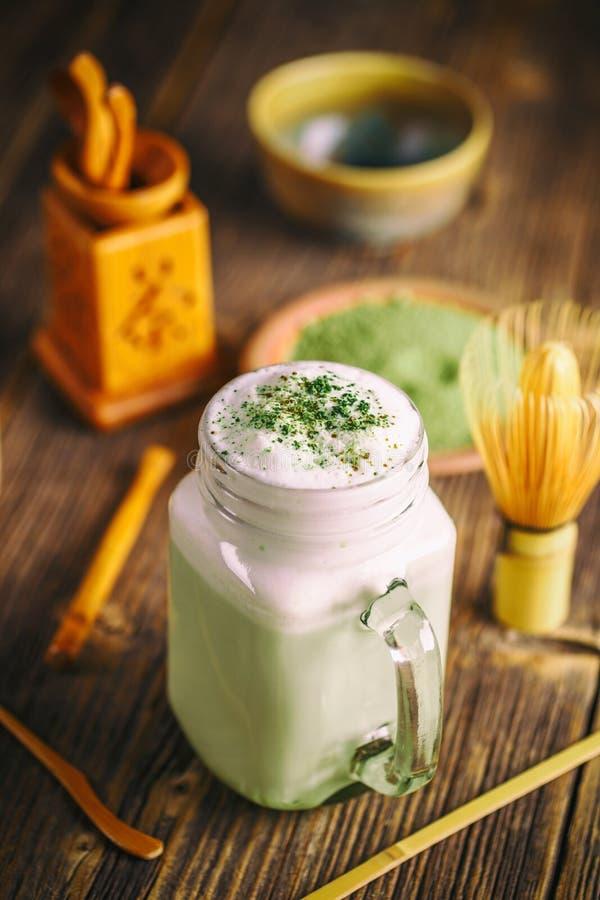 smoothie zielona herbata zdjęcie royalty free