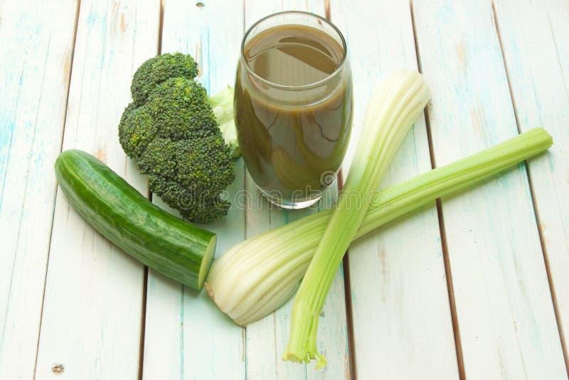smoothie zielony warzywo zdjęcia stock