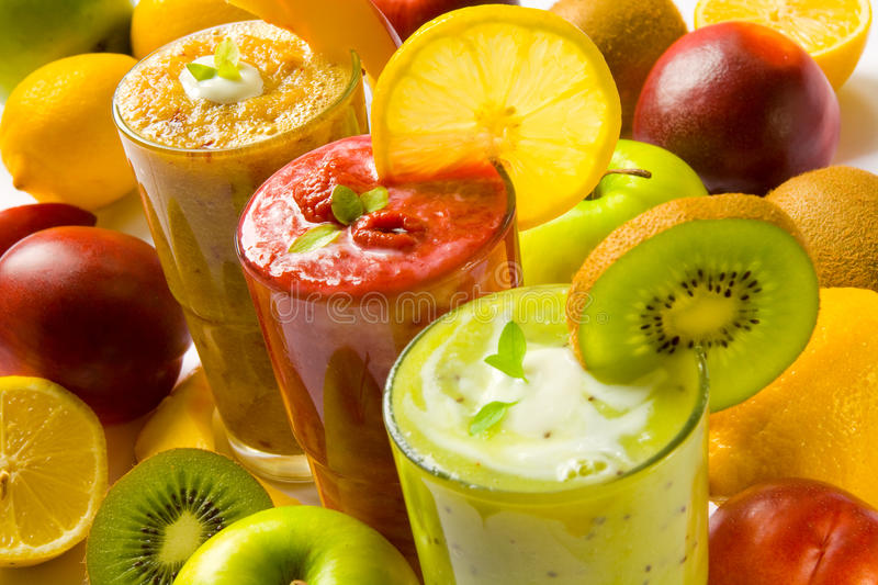 Smoothies stockfotografie