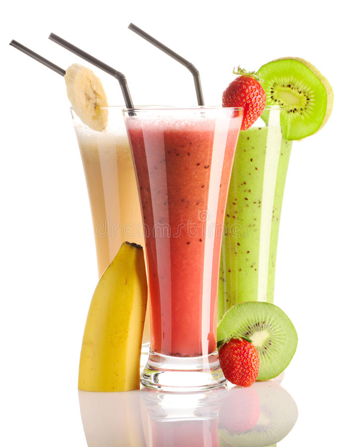 Smoothies royalty-vrije stock foto's