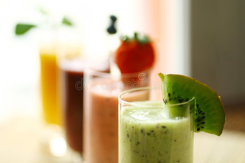 Smoothies stockfoto