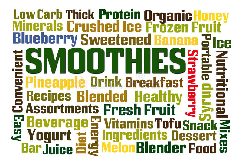 smoothies illustration stock