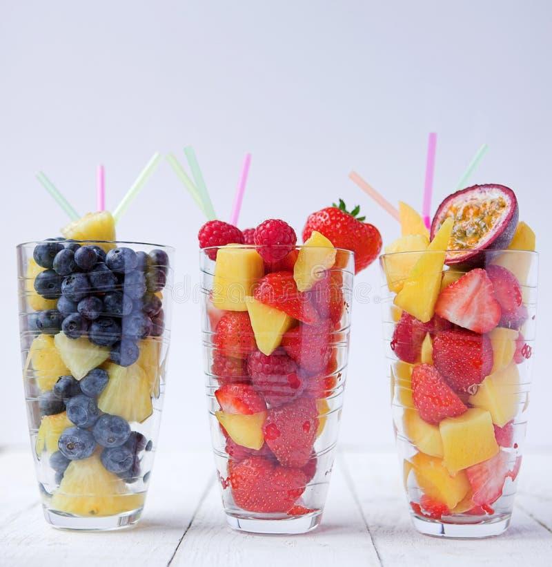 Smoothies da fruta do verão fotografia de stock