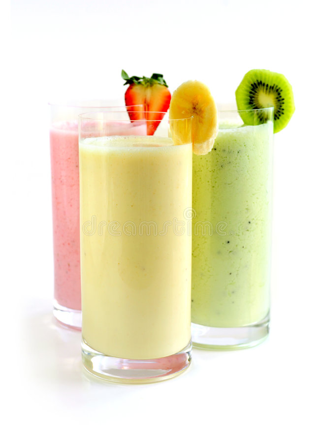 Smoothies de fruit photographie stock libre de droits