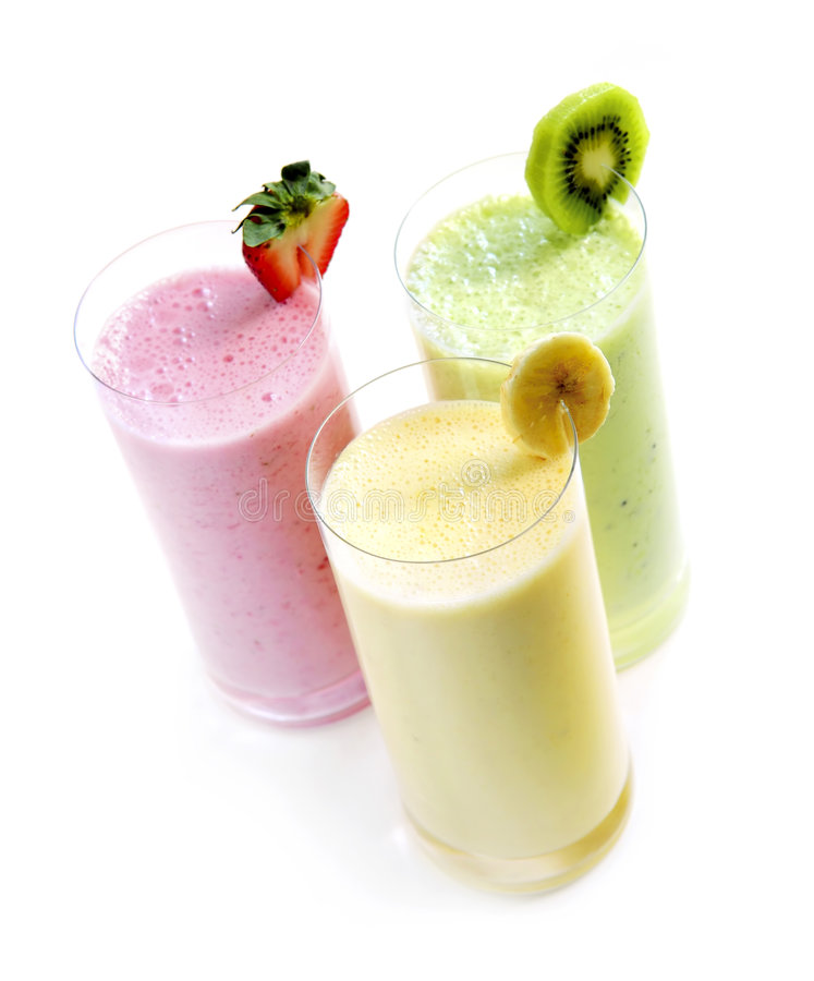 Smoothies de fruit photographie stock libre de droits
