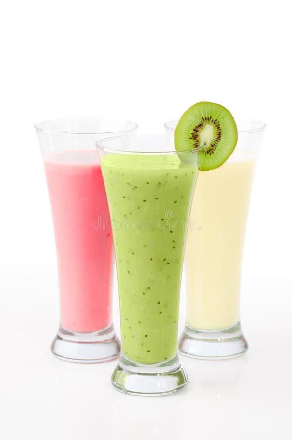 Smoothies de kiwi et de fruit photo libre de droits