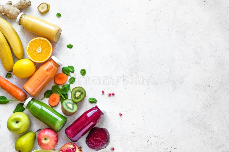 Smoothies and ingredients royalty free stock photo