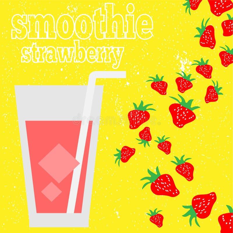 Smoothies sanos de la fruta en estilo del garabato Jugo fresco para la salud ilustración del vector