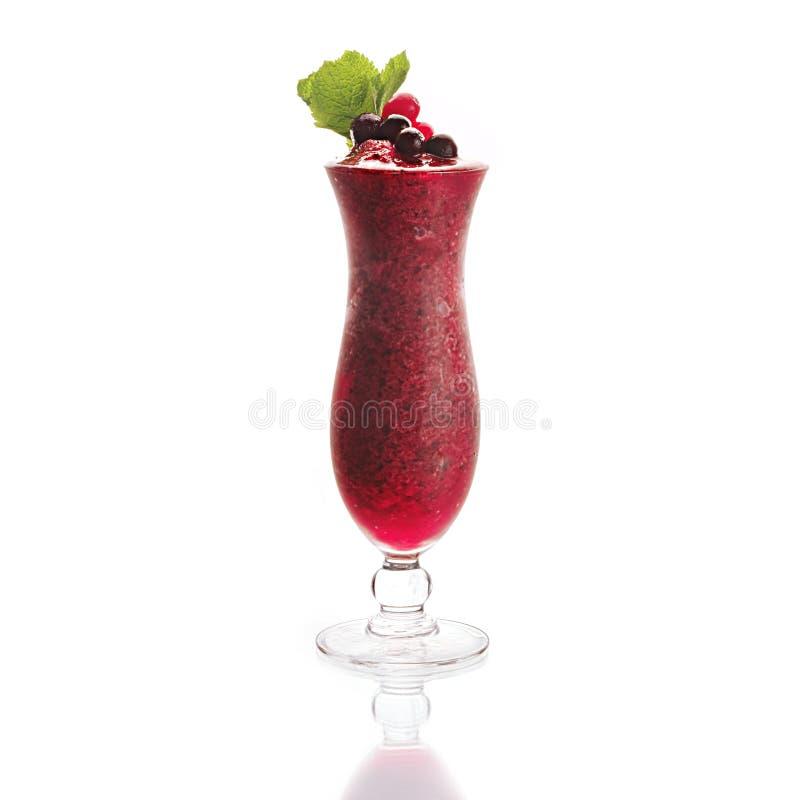 Smoothies z cranberry fotografia stock