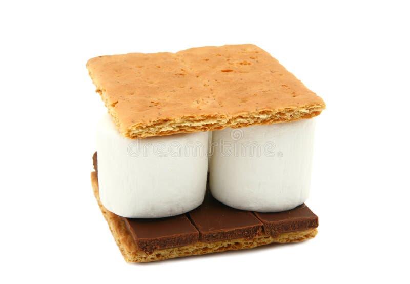 Smore (Eibisch, Schokolade, Graham-Cracker) lizenzfreie stockbilder
