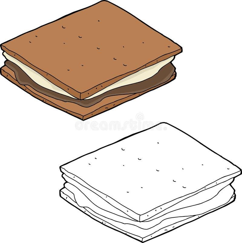 Smores-Karikatur stock abbildung