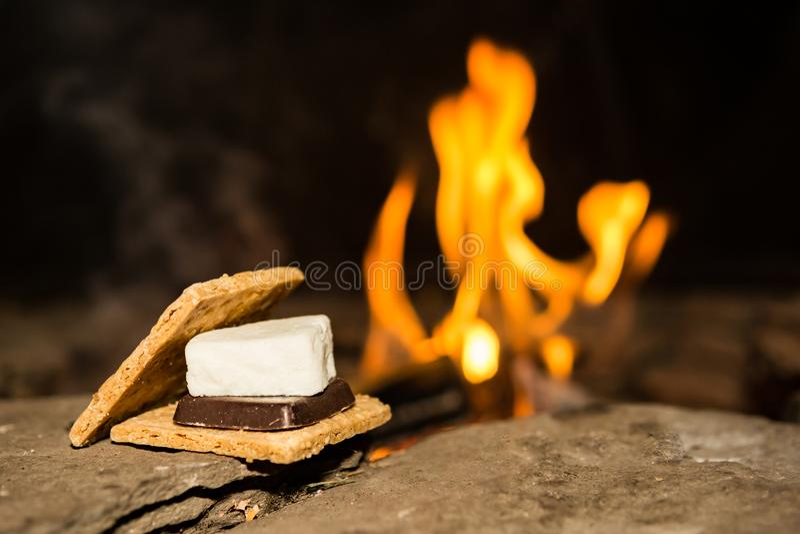 Campfire Smores stock images