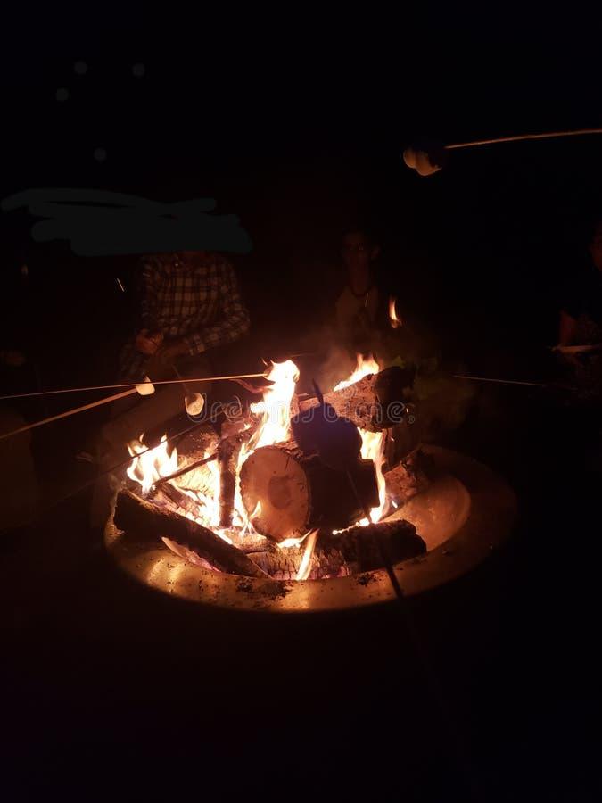 Smores sobre Bonfire foto de stock royalty free