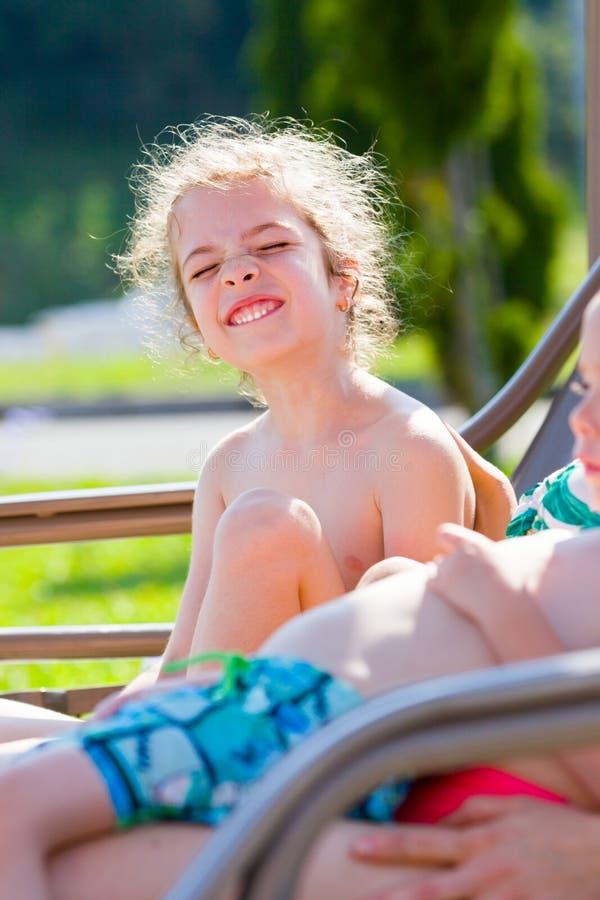 Smorfia della foto di famiglia immagini stock libere da diritti