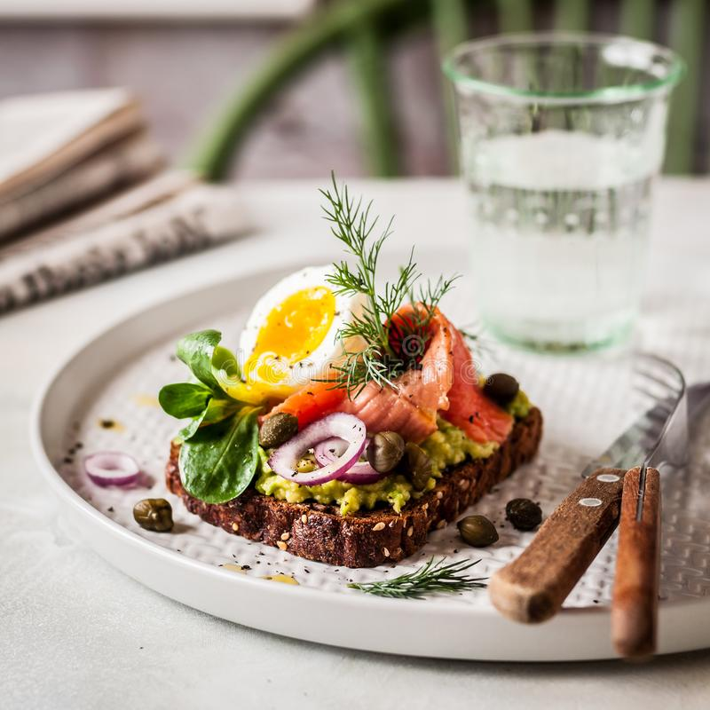 Free Smorrebrod, Danish Open Sandwich Stock Photography - 111075942