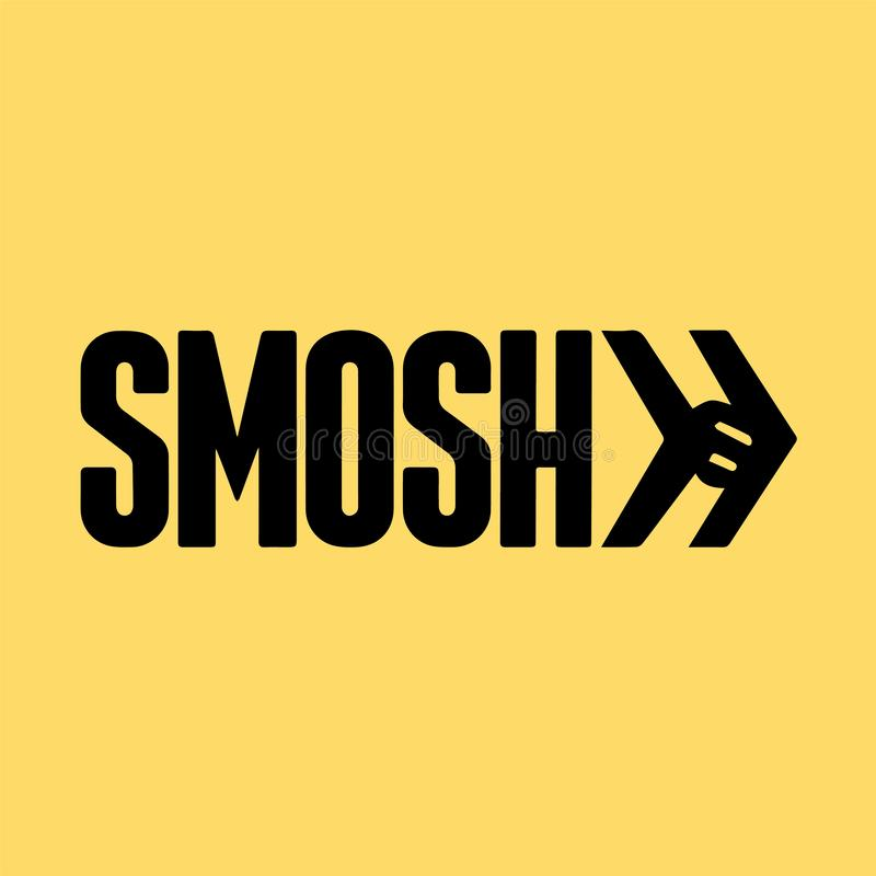 Smosh Logo Editorial Vector Illustration illustration libre de droits