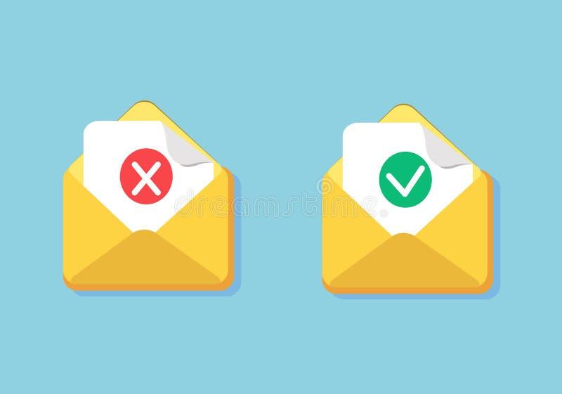 Sms象或邮件消息提示 向量例证