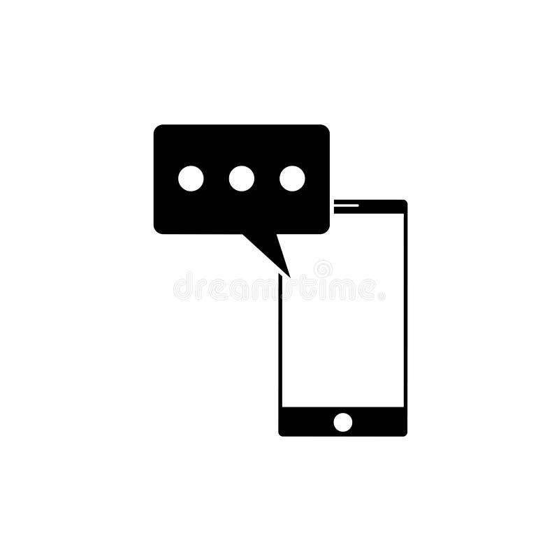 SMS-bericht in smartphonepictogram SMS-berichtpictogram in vlakke die stijl op witte achtergrond wordt geïsoleerd Smssymbool in t stock illustratie