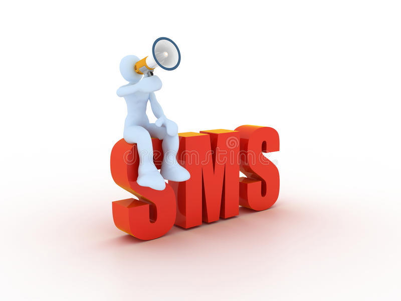 Sms concdept stock illustratie