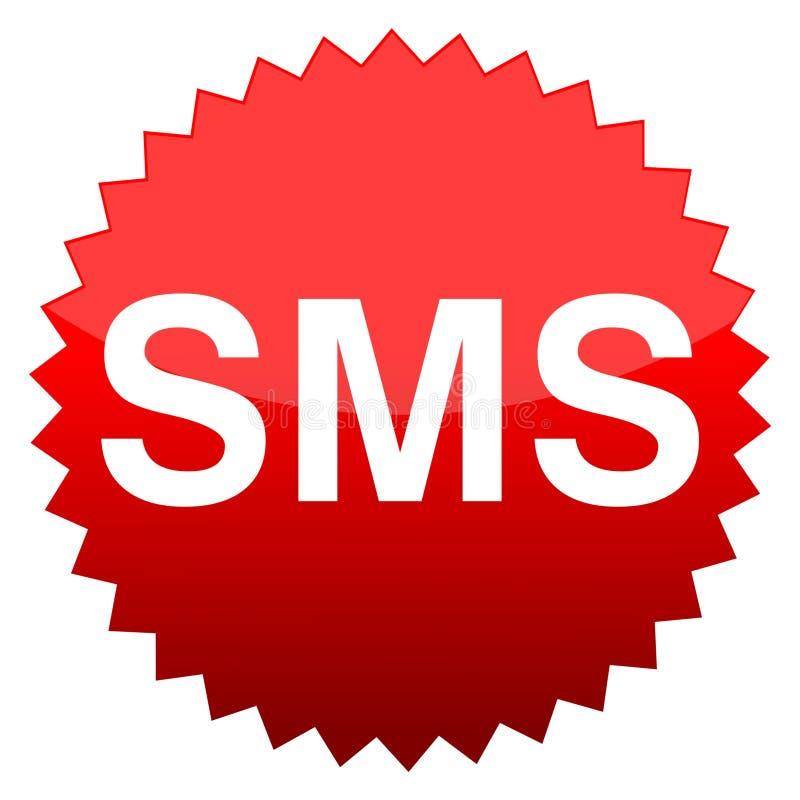 SMS del botón rojo libre illustration